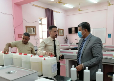 President of Thi-Qar University urges the colleges to produce sterile materials