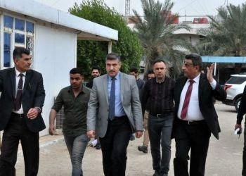 Thi Qar University President on an inspection visit to