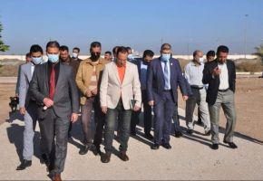 رئيس جامعة ذي قار يشرف ميدانياً على الموقع المخصص لإستحداث جامعة الشطرة