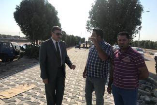 رئيس جامعة ذي قار يتفقد سير الأعمال في بوابة الجامعة
