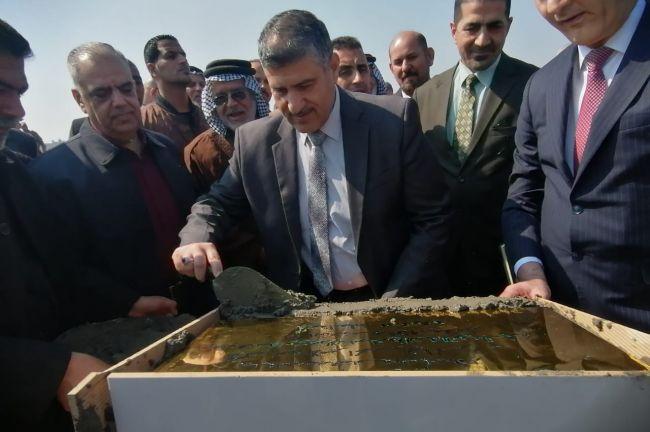 رئيس جامعة ذي قار يشارك في مراسيم وضع حجر الاساس
