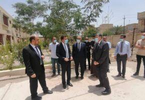 رئيس جامعة ذي قار في زيارة لموقع جامعة الشطرة وكلية التربية للبنات .