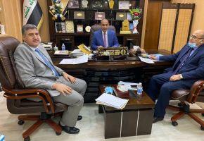 وزير العمل والشؤون الأجتماعية يلتقي رئيس جامعة ذي قار