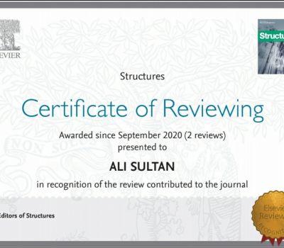 اختيار تدريسي من جامعة ذي قار مقوماً علمياً لمجلة Structures  .