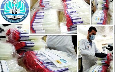 كلية العلوم بجامعة ذي قار تتبرع بسوابات عدد 1000 لمديرية صحة ذي
