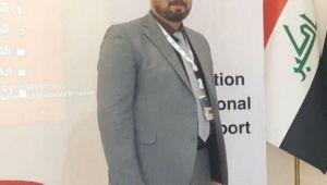 تدريسي من كلية القانون بجامعة ذي قار يلقي محاضرة علمية في الورشة الدولية الإلكترونية