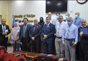 حضور ومشاركة رئيس جامعة ذي قار بحفل تكريم أساتذة ومنتسبي وطلبة كلية العلوم .
